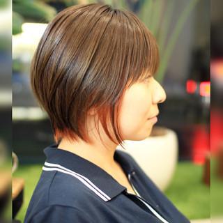 小顔ショート インナーカラー ストリート ショート ヘアスタイルや髪型の写真・画像