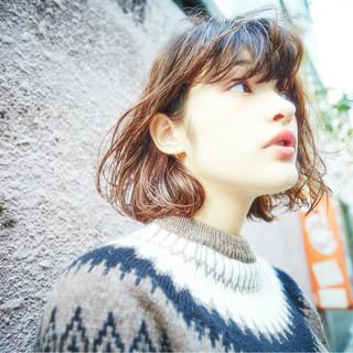 外国人風 簡単 ゆるふわ パーマ ヘアスタイルや髪型の写真・画像