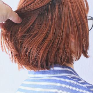 ボブ ブリーチ ダブルカラー ストリート ヘアスタイルや髪型の写真・画像