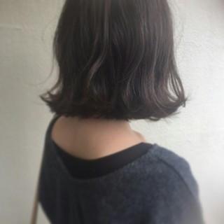 暗髪 外国人風 ボブ 簡単ヘアアレンジ ヘアスタイルや髪型の写真・画像
