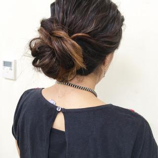 グラデーションカラー 外国人風 ヘアアレンジ ロング ヘアスタイルや髪型の写真・画像