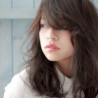 ラフ パープル バイオレットアッシュ 秋 ヘアスタイルや髪型の写真・画像