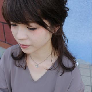 アップスタイル 大人女子 ミディアム ヘアアレンジ ヘアスタイルや髪型の写真・画像