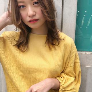 ヘアアレンジ ミディアム アンニュイほつれヘア ナチュラル ヘアスタイルや髪型の写真・画像