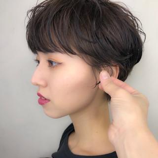 ショートヘア 大人かわいい ナチュラル ショート ヘアスタイルや髪型の写真・画像