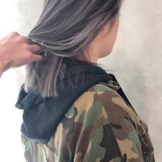 外国人風カラー グレージュ 外国人風 ハイライト ヘアスタイルや髪型の写真・画像