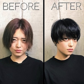 ショート マッシュショート マッシュ ショートヘア ヘアスタイルや髪型の写真・画像