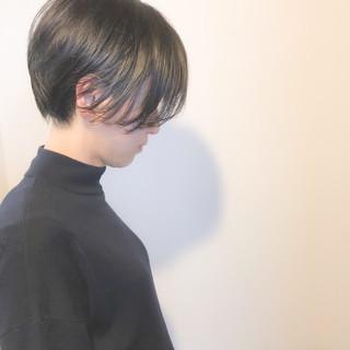 ハンサムショート ハンサムバング ショートヘア 小顔ショート ヘアスタイルや髪型の写真・画像