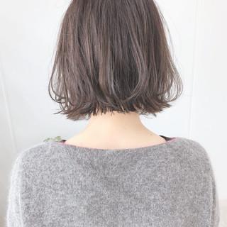 ミニボブ 切りっぱなしボブ ボブ ショートボブ ヘアスタイルや髪型の写真・画像