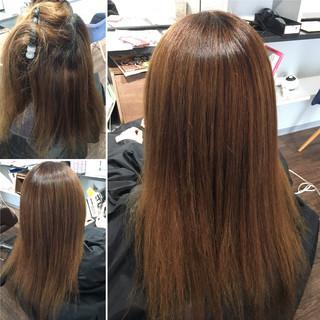 最新トリートメント 髪質改善 ナチュラル ロング ヘアスタイルや髪型の写真・画像