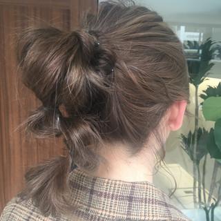 ヘアアレンジ ミディアム ガーリー ふわふわヘアアレンジ ヘアスタイルや髪型の写真・画像