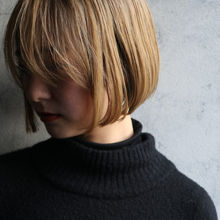 ボブ ナチュラル ミルクティーベージュ 大人かわいい ヘアスタイルや髪型の写真・画像