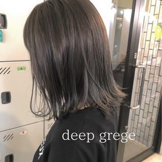 夏 ロブ 大人かわいい 涼しげ ヘアスタイルや髪型の写真・画像