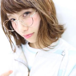 外国人風 外ハネ 大人かわいい ブラウン ヘアスタイルや髪型の写真・画像