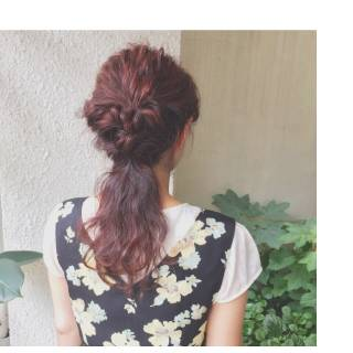 波ウェーブ 秋 ヘアアレンジ セミロング ヘアスタイルや髪型の写真・画像