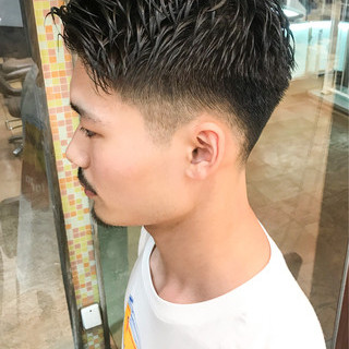 刈り上げショート メンズカット ストリート メンズ ヘアスタイルや髪型の写真・画像