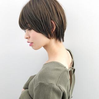 抜け感 女子力 ショート 透明感 ヘアスタイルや髪型の写真・画像