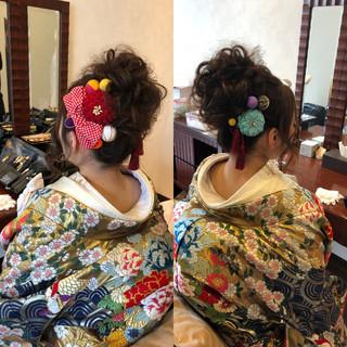 和装髪型 結婚式髪型 ヘアアレンジ 和装 ヘアスタイルや髪型の写真・画像