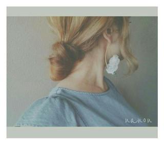 ショート ヘアアレンジ 涼しげ ロング ヘアスタイルや髪型の写真・画像