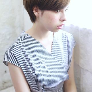 似合わせ ショート 小顔 ショートボブ ヘアスタイルや髪型の写真・画像