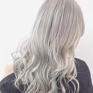ロング ブリーチ モード ホワイト ヘアスタイルや髪型の写真・画像