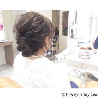 セミロング ヘアアレンジ 結婚式 二次会 ヘアスタイルや髪型の写真・画像