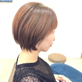 ナチュラル 小顔ショート ショートヘア ショート ヘアスタイルや髪型の写真・画像