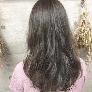 イルミナカラー 外国人風カラー ロング ナチュラル ヘアスタイルや髪型の写真・画像