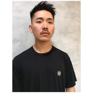 メンズカット ショート 黒髪 メンズヘア ヘアスタイルや髪型の写真・画像