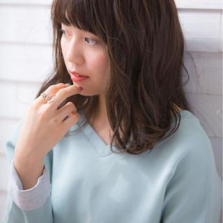 大人女子 ニュアンス ミディアム こなれ感 ヘアスタイルや髪型の写真・画像