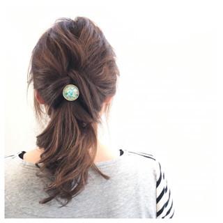 ショート 簡単ヘアアレンジ フェミニン ヘアアレンジ ヘアスタイルや髪型の写真・画像