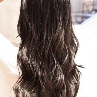 バレイヤージュ グラデーションカラー ロング 外国人風カラー ヘアスタイルや髪型の写真・画像