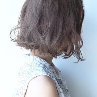 ボブ デート パーマ ガーリー ヘアスタイルや髪型の写真・画像