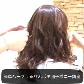 ショート ポニーテール 簡単ヘアアレンジ セミロング ヘアスタイルや髪型の写真・画像