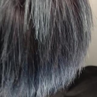 ブリーチ アッシュ ストリート ショート ヘアスタイルや髪型の写真・画像