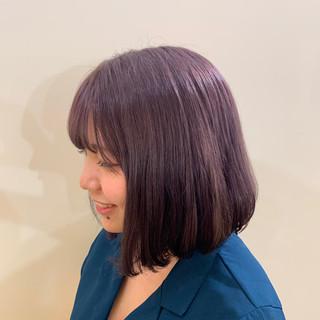 パープル ガーリー バイオレット 可愛い ヘアスタイルや髪型の写真・画像