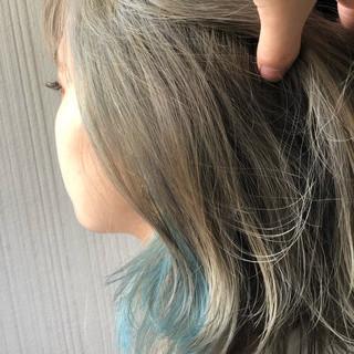 ハイトーンカラー 切りっぱなしボブ 春色 ボブ ヘアスタイルや髪型の写真・画像
