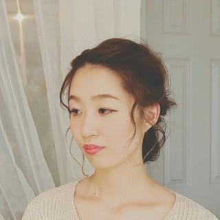 大人女子 簡単ヘアアレンジ ショート ハイライト ヘアスタイルや髪型の写真・画像