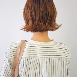 ブリーチ ショートボブ ボブ 波ウェーブ ヘアスタイルや髪型の写真・画像