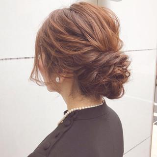 結婚式 ボブ 簡単ヘアアレンジ アンニュイほつれヘア ヘアスタイルや髪型の写真・画像