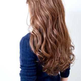 外国人風 外国人風カラー セミロング ハイライト ヘアスタイルや髪型の写真・画像