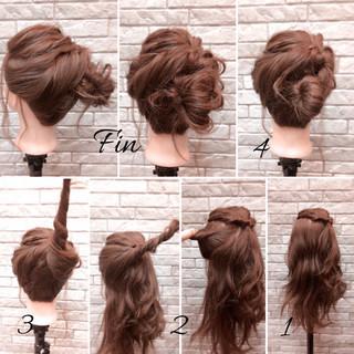 花火大会 ヘアアレンジ 簡単ヘアアレンジ 簡単 ヘアスタイルや髪型の写真・画像