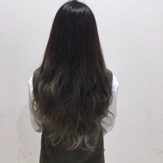 ロング 黒髪 渋谷系 外国人風 ヘアスタイルや髪型の写真・画像