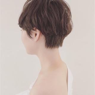 ベリーショート マッシュ ショート ナチュラル ヘアスタイルや髪型の写真・画像
