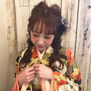 謝恩会 袴 ヘアアレンジ ナチュラル ヘアスタイルや髪型の写真・画像