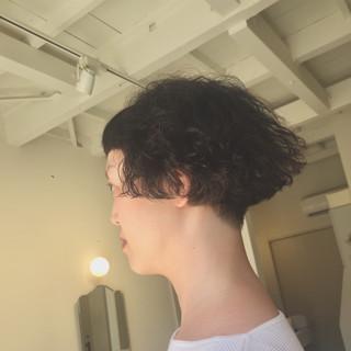 パーマ ショート ショートボブ 個性的 ヘアスタイルや髪型の写真・画像