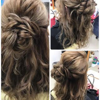 フェミニン ルーズ ヘアアレンジ 大人女子 ヘアスタイルや髪型の写真・画像