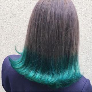 ロブ グレージュ ストリート ミディアム ヘアスタイルや髪型の写真・画像