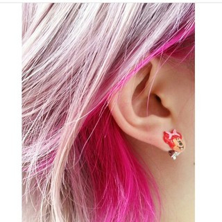 ピンク レッド ボブ インナーカラー ヘアスタイルや髪型の写真・画像