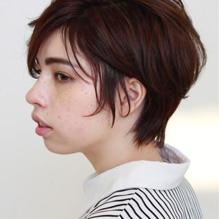 ショート ショートボブ 女子力 大人かわいい ヘアスタイルや髪型の写真・画像